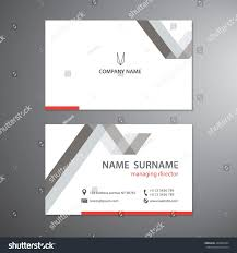 white business cards set vector design stock vector 446980384