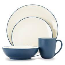 noritake colorwave blue 4 place setting