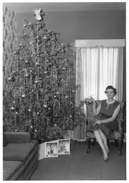 christmas trees 50 u0026 60 u0027s continue the theme of large colored bulb