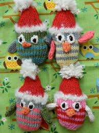 the vintage umbrella knitted owl ornament