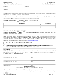 Dependent Student Verification Worksheet College Of Dupage 2015 2016 Parent Office Of Student Financial