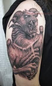angry satan on shoulder