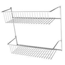 closetmaid 12 in 2 tier storage rack 8002 the home depot
