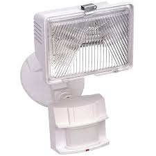 Halogen Outdoor Flood Light Fixture by Shop Secure Home 180 Degree 1 Head White Halogen Motion Activated