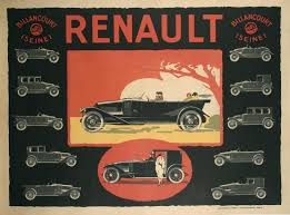 vintage renault unknown french art deco period poster for renault circa 1920s