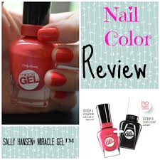 review sally hansen miracle gel pomegranate print