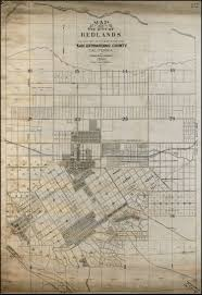 Western Us Map Map Of The City Of Redlands And One Half Mile To The West Of The