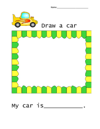 Car Worksheet Car Worksheet For Kindergarten Grade By Magic Is At The Library