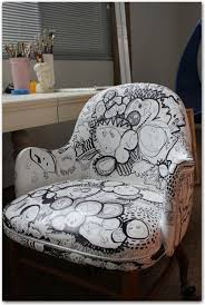 Painting Vinyl Chairs Ugly Vinyl Rolling Desk Chair Makeover Modhomeec