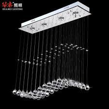 Chandelier Lights For Dining Room Discount Modern Spiral Chandelier Lamps Led Wave Crystal Gu10
