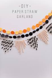 Halloween Tinsel Garland by Tell Halloween Paper Straw Garland Not The Worst Version Of