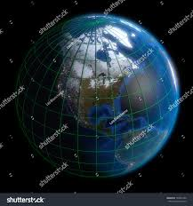 United States Map With Latitude And Longitude by Earth Globe North America Latitude Longitude Stock Illustration