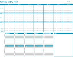 menu planners templates numbers weekly menu planner template free iwork templates