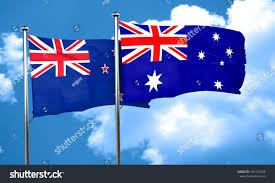 New Zeland Flag New Zealand Flag Australia Flag 3d Stock Illustration 435152284