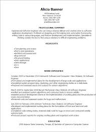 software developer resume template professional software engineer resume templates to showcase your for