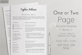 Template For Professional Resume Clear Resume Cv Template 11 Resume Templates Creative Market