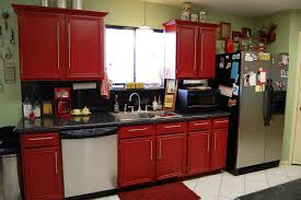 rustic painted cabinets red painting kitchen cabinet decoration