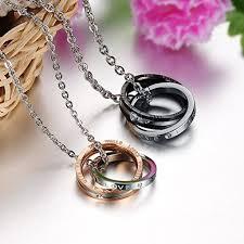matching set his u0026amp hers men women couples black silver rose