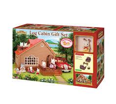 sylvanian families log cabin gift set store petit