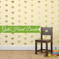 bobee gold hearts wall decals bobee llc heart stickers gold decals