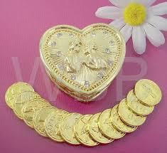 arras boda gold w rhinestones wedding wedding arras box unity coins