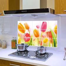 Tile Stickers by Aliexpress Com Buy Tulips Kitchen Waterproof Oilproof Wall