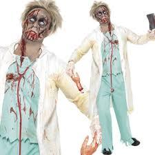 doctor halloween costume halloween zombie fancy dress mens ladies womens zombies walking