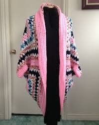Cocoon Sweater Cardigan Crochet Granny Square Cocoon Sweater Cardigan Shrug Rainbow Boho
