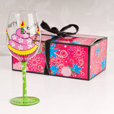 wine glass birthday happy birthday tallulah chic wine glass gifts for her by