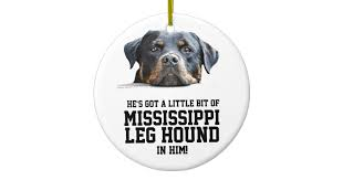 mississippi leg hound rottweiler ceramic ornament