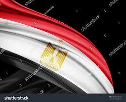 Cairo Flag Egypt Flag Silk Copyspace Your Text Stock Illustration 514780174