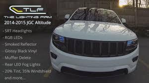 led lights for 2014 jeep grand 2014 2015 jgc altitude custom srt headlights rgb leds muffler