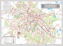 Transport Map Large Detailed Public Transport Map Of Sofia City Vidiani Com