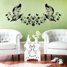 popular 3d butterfly wallpaper buy cheap 3d butterfly wallpaper classic black flowers vine butterfly fairy wall sticker kids room bedroom home decoration vinyl 3d