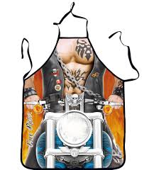 Men Cooking Aprons Novelty Vintage Kitchen Cooking Apron Muscle Man Knight