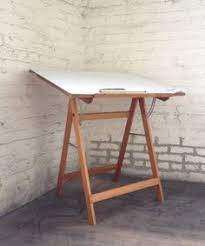 Antique Wood Drafting Table Quiero Uno Igual El Taburete También Art Studio Pinterest