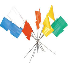Plastic Flags Datum Survey Flags