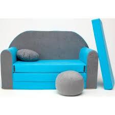 canapé convertible enfant canape sofa enfant 2 places convertible gris bleu achat prix