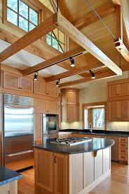 Suspended Track Lighting Track Lighting Kits Kitchen Rustic With Exposed Rafters Track