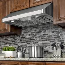 home depot under cabinet range hood akdy 36 in under cabinet range hood in stainless steel with leds