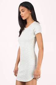 grey bodycon dress white grey dress shirt dress striped dress bodycon