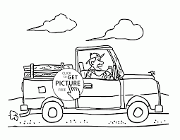 pickup truck coloring page for kids transportation coloring pages