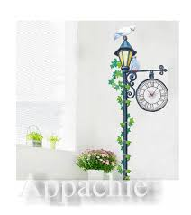clock wall stickers lonely pigeon on the street light h100 clock wall stickers lonely pigeon on the street light h100 kitchen home