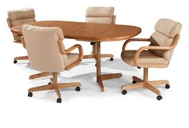 Fabulous Kitchen Table And Chairs With Wheels Dining Room Arms - Dining room chairs with rollers