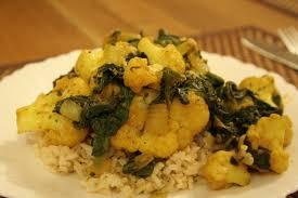 comment cuisiner le chou fleur curry de chou fleur et épinards les secrets de maliha