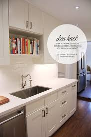 ikea kitchen cabinet hacks how to create a cookbook shelf in your ikea kitchen