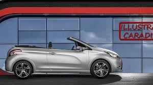 peugeot cabriolet peugeot 208 convertible due in 2015 with soft top report