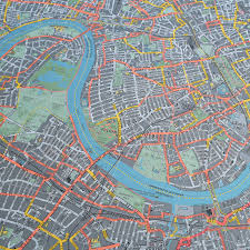 Wall Map London Cycle Wall Map By The Future Mapping Company