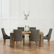 kingston dining room table kingston solid oak extending dining table with 6 primly grey chairs