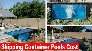 look this shipping container pools cost youtube